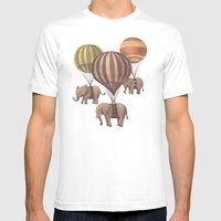 Flight Of The Elephants  Mens Fitted Tee White SMALL