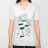 Us And Them: Coffeeholic Anonymous. Unisex V-Neck