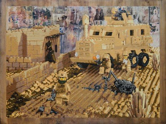 Clearing the Road, Kandahar Province, Afghanistan Art Print