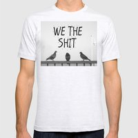 We The Shit Mens Fitted Tee Ash Grey SMALL