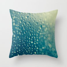Water Droplets Throw Pillow