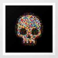 Spectrum Colors Arranged By Chance Art Print