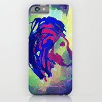 iPhone & iPod Case featuring PRIMITIVE LION - 014 by Lazy Bones Studios