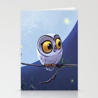 owls Stationery Cards featuring Owls by biboun
