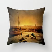 Blakeney Boats Throw Pillow