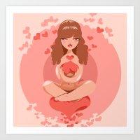 Love Support Art Print