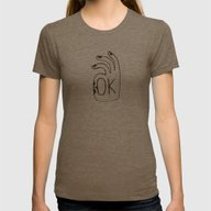 OK Womens Fitted Tee Tri-Coffee SMALL