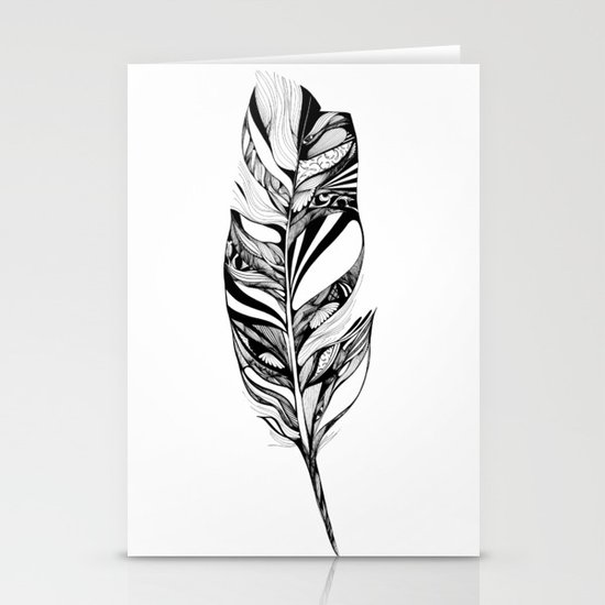 Feather - Lucidity Stationery Card