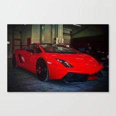 Lamborghini test drive Canvas Print