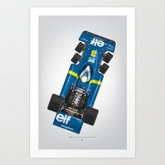 Outline Series N.º3, Jody Scheckter, Tyrrell-Ford 1976 Art Print