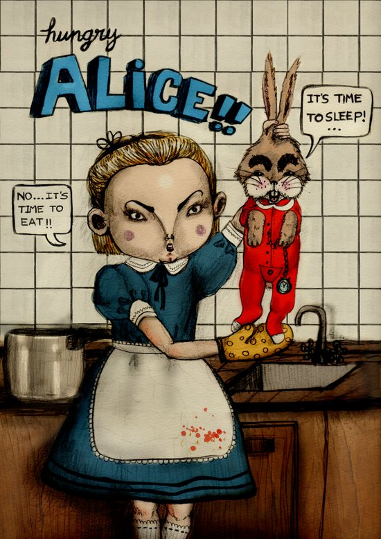 Hungry Alice Art Print