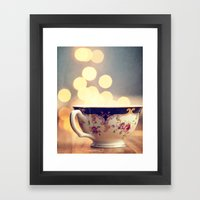 Blue And Gold Steaming C… Framed Art Print