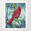 Virginia Cardinal Art Print