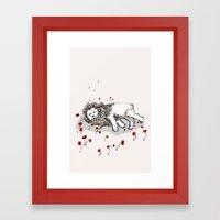 Cowardly Lion Framed Art Print