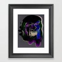 Face Illustration 6 Framed Art Print