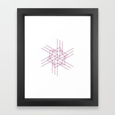 #460 Origami space – Geometry Daily Framed Art Print