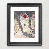Red Balloon Framed Art Print