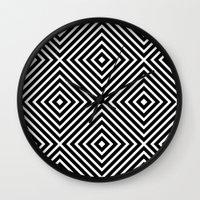 Chevron Diamond ///www.pencilmeinstationery.com Wall Clock