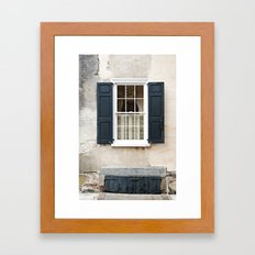 Charleston Window Framed Art Print