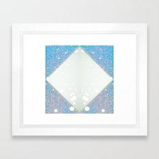 White, pink and blue 5 Framed Art Print
