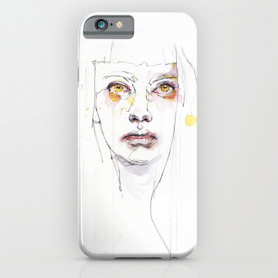 Golden eyes girl iPhone & iPod Case