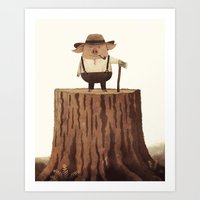 Lumberpig Art Print