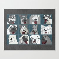 Dogs horizontal Canvas Print