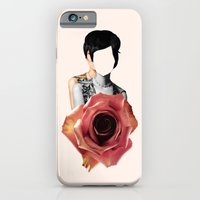 iPhone Cases featuring Rose by renaphuah