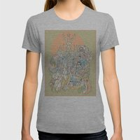 sherbet Womens Fitted Tee Athletic Grey SMALL