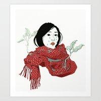 Strawberry Sadness Art Print