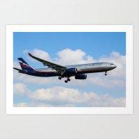 Aeroflot Airbus A330 Art Print
