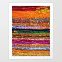 Indian Colors Art Print