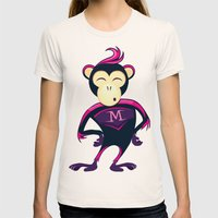 Monkey Womens Fitted Tee Natural SMALL
