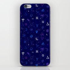 Dark sky with mystic signs iPhone & iPod Skin