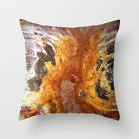 Red Cyclones Throw Pillow