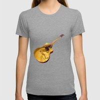 The guitar is a lady Womens Fitted Tee Tri-Grey SMALL