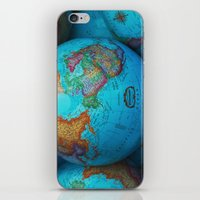 Globes iPhone & iPod Skin
