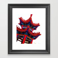 RED House Framed Art Print