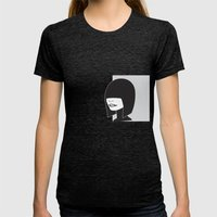 Untitled Womens Fitted Tee Tri-Black SMALL