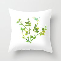 Dragonfly Three  Throw Pillow