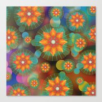 Lovely Floral Pattern Canvas Print