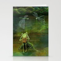 Frog on his Rock Stationery Cards