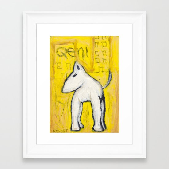Qeni Framed Art Print