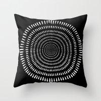 Fjorn black Throw Pillow