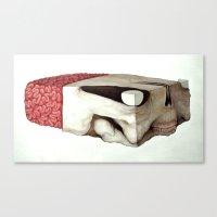 Skull Block Canvas Print