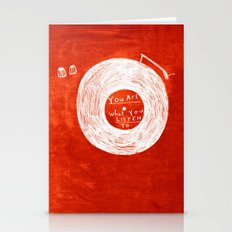 you are what you listen to, RED Stationery Cards