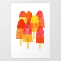 Ice Lollies Art Print