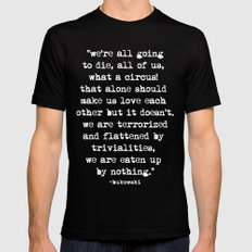 Charles Bukowski Typewri… Mens Fitted Tee Black SMALL