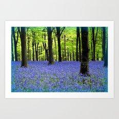 A Haze Of Blue Art Print