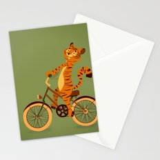 Tiger on the bike Stationery Cards